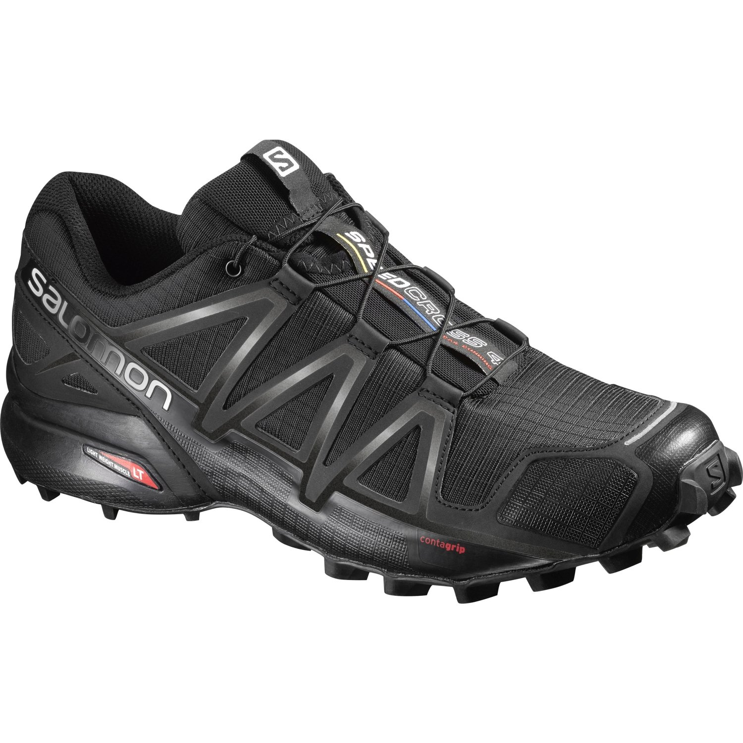 Salomon Herren Speedcross 4 Traillaufschuhe  44 EU|Schwarz (Black/Black Metallic)