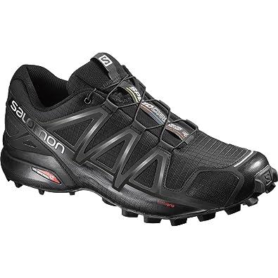 Salomon Speedcross 4 Herren Trailrunning-Schuhe, Black/Black/Black  Metallic, 40