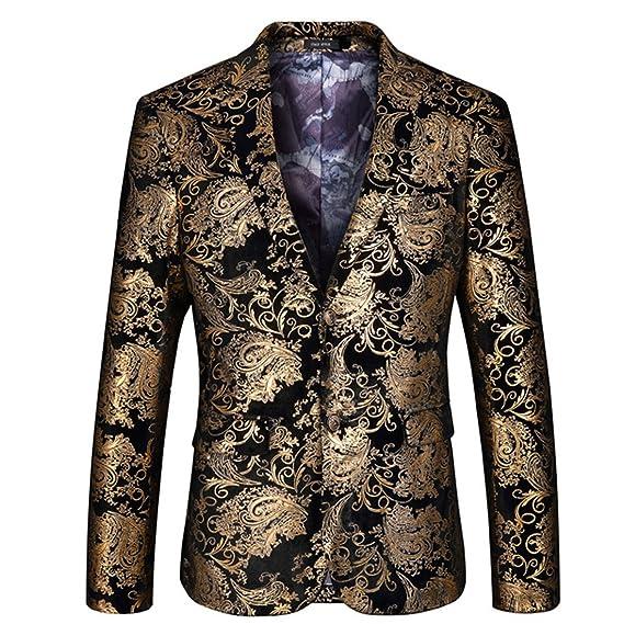 Blazer Imprimée Fantaisie Gwell De Florale Homme Veste Costume wPiuTXZOk