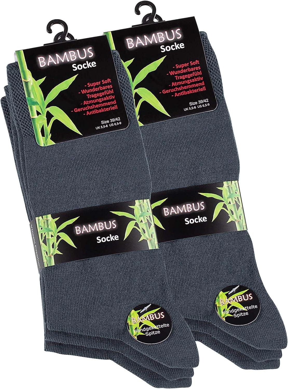 per uomo e donna 9 paia di calzini in bamb/ù unisex in pizzo lavorato a mano Vincent Creation 6