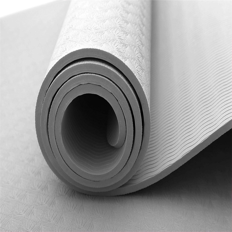 PUREish Tapis de Yoga Extra /épais antid/érapant pour Tous Les Types de Yoga /écologique pour entra/înement Tapis pour la Maison et Le Sport textur/é Surface antid/érapante Tapis de Yoga