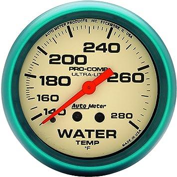 Auto Meter 4535 Ultra-Nite Water Temperature Gauge