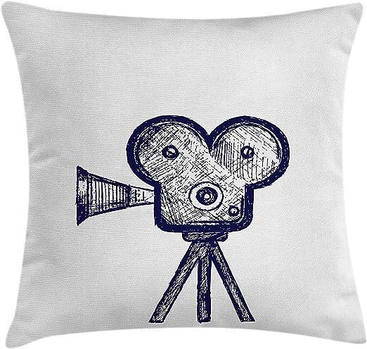 K0k2t0 Movie Theater Funda de cojín, Dibujo a Mano de un proyector ...