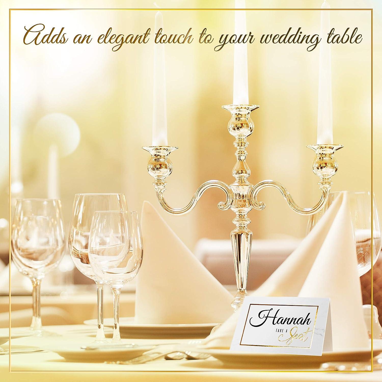 Cartellini Nome Biglietti eleganti con scritta e cornice con bordo dorato 200 Segnaposti per matrimonio Metti le carte per i pasti per feste eleganti sulla decorazione del tavolo degli ospiti