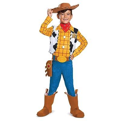 Disney Pixar Woody Toy Story 4 Deluxe Boys' Costume: Toys & Games
