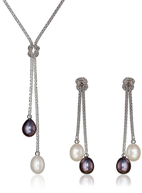 b1ff3f8725c8 Bella Pearl - Juego de joyas de perlas cultivadas en agua dulce chinas