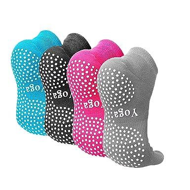 Yoga Pilates Barre Gym Chaussettes antidérapantes avec picots en  caoutchouc 1c07cf98dfa