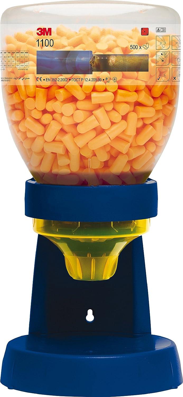 3M 1100 Botella dispensador de tapones desechables comprimibles sin cordón 37 dB (500 tapones/botella): Amazon.es: Industria, empresas y ciencia