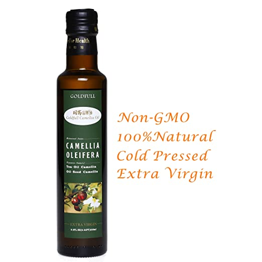 Goldfull Camellia Oil,Tea Seed Oil,Camellia Seed Oil, Cold Pressed Extra Virgin Cooking Oil,Camellia Oleifera Oil, Chinese Olive Oil, Natural Flavor, Current Harvest,250ml