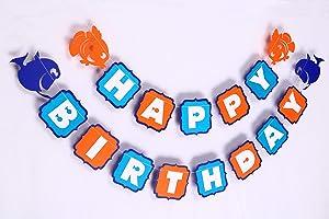 Seyal Finding Nemo Banner - Birthday Decorations,Party Decorations,Party décor,Creative Decoration