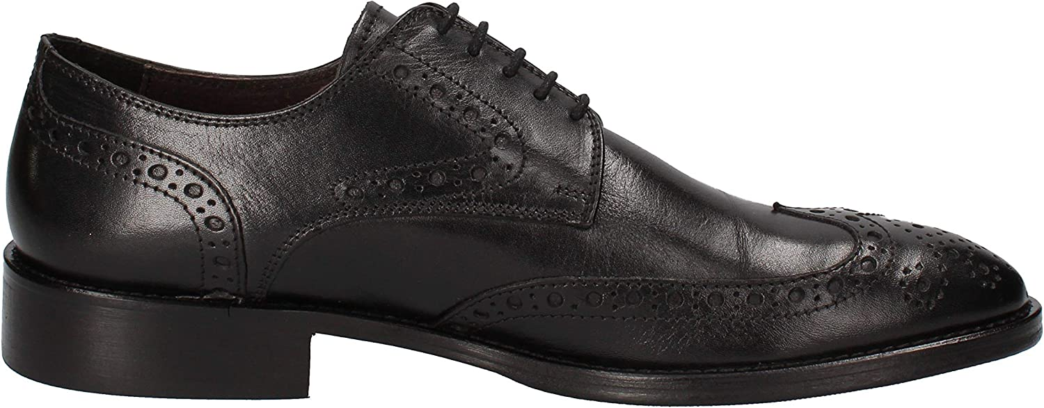 WILLY ADAMS Oxfords-Shoes Mens Leather Black