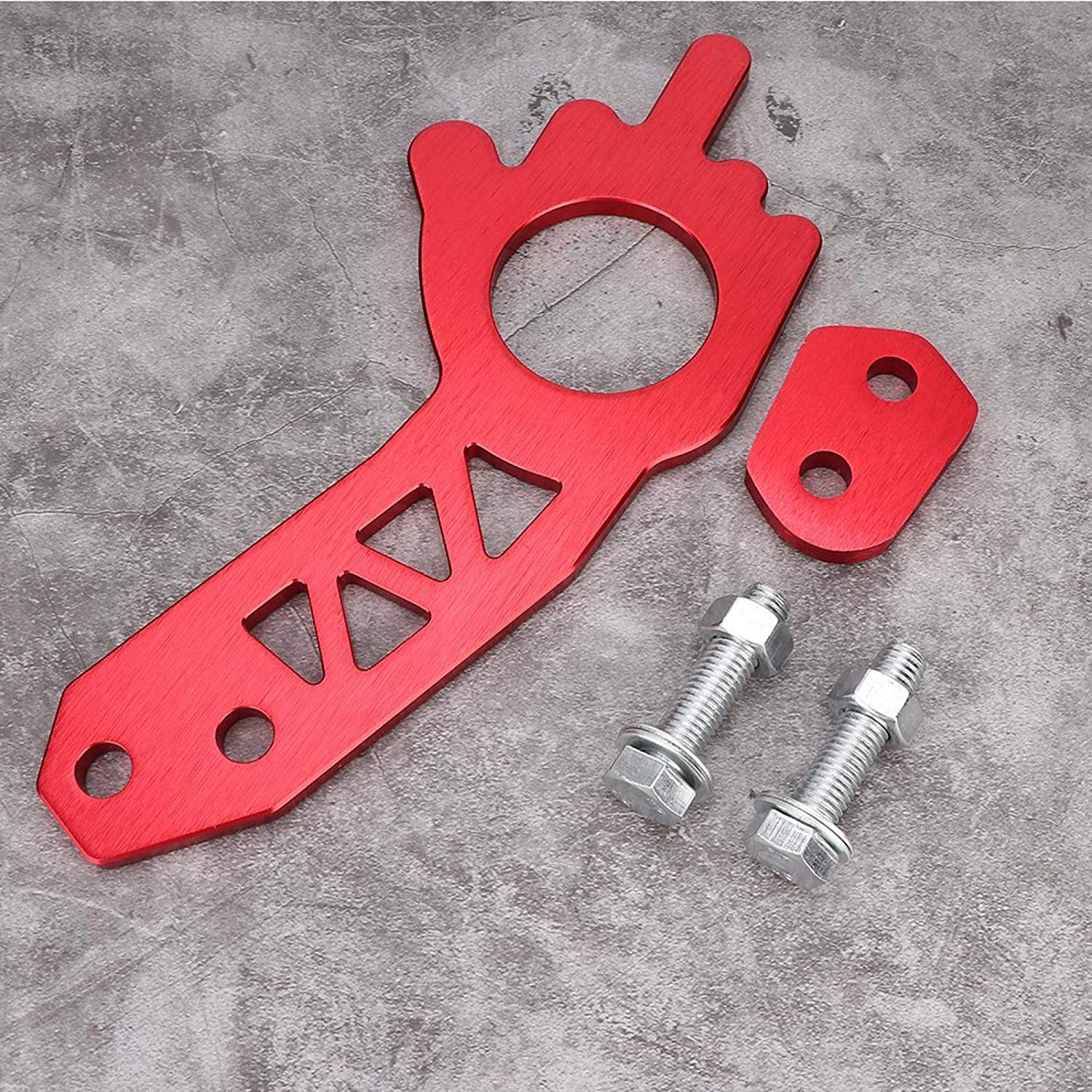Universal Red Aluminium Alloy Car Truck Front Rear Tow Hook Ring Kit Car Towing Ring