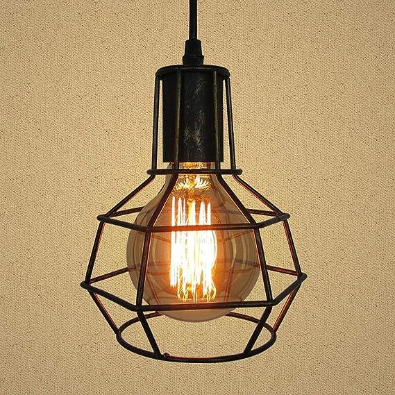 XYQS Iluminación Colgante Lámpara de Jaula de pájaros Industrial ...