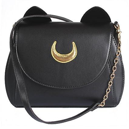 e799fd62cd37 Amazon.com  AKStore Women Handbag Cosplay Sailor Moon 20th Tsukino Usagi PU  Leather Girls Handbag Shoulder Bags  Sports   Outdoors
