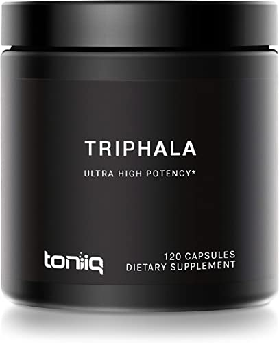 Triphala Capsules Non-GMO Super Strength 50 Tannins Extract – 1200mg – Vegetarian – Optimal Digestive and Detoxification Support – 120 Veggie Caps