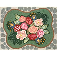 M C G Textiles Heritage Rug Hooking Kit, 20-Inch by 27-Inch, Cobblestone Rose