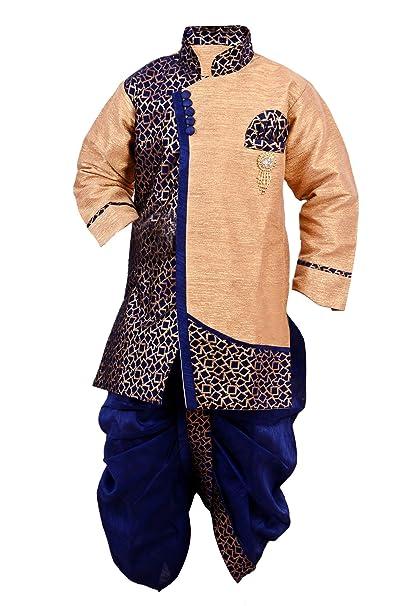 Arshia Fashions Boys Dhoti Kurta set ethnic wear for boys - Blue Boys' Kurta Sets at amazon