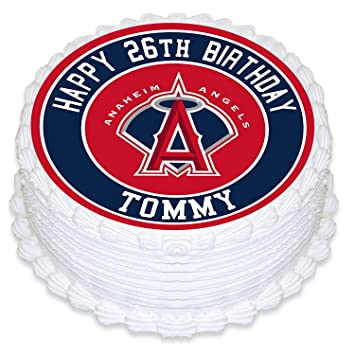 Los Angeles Angels Edible Image Cake Topper Personalized Birthday 10quot Round Circle Decoration Custom Sheet