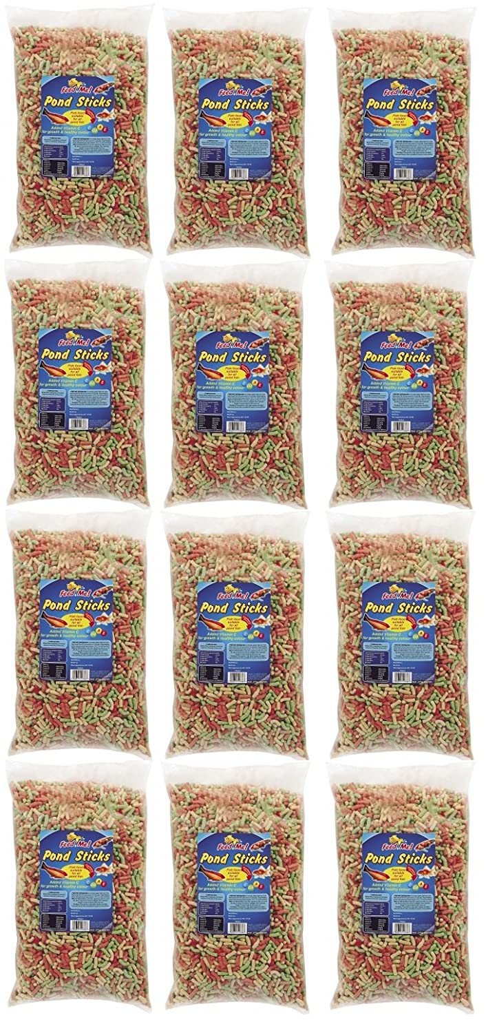 12 x Bags Of Assorted Fish Food Pond Sticks Fish Food For All Pond Fish 275g 151