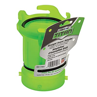 Thetford 17907 Titan Straight Sewer Adapter - Translucent Green: Automotive