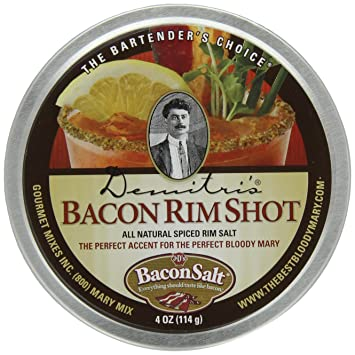 Amazon.com : Demitris Bacon RimShot, Spiced Rim Salt, 4-Ounce Tins (Pack of 4) : Bloody Mary Cocktail Mixes : Grocery & Gourmet Food