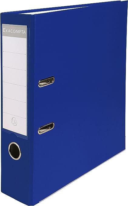 Oferta amazon: Exacompta 918407B - Archivador de palanca polipropileno, Azul, A4, 320x290 mm, 1 pieza