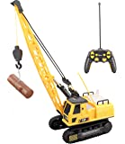 Top Race 12 Channel Remote Control Crane, Battery Powered Radio Control Construction Crane With Lights & Sound (TR-114)