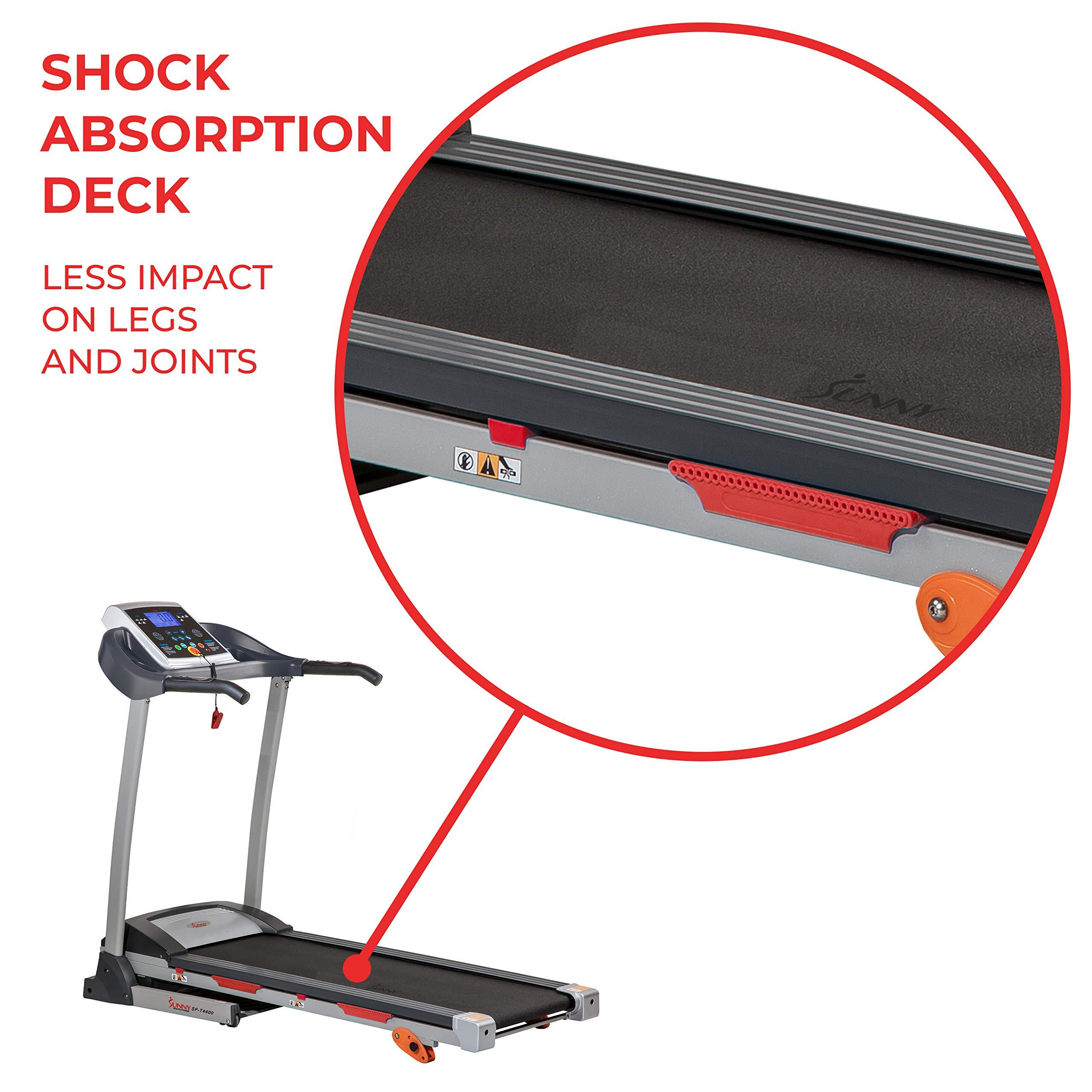 Sunny Health & Fitness Treadmill Folding Motorized Running Machine by Sunny Health & Fitness (Image #5)
