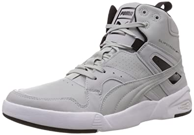 37640a1a8c1e8d Puma Men s Future Trinomic Slipst. Mid Black-Gray Violet Leather Running  Shoes - 13UK