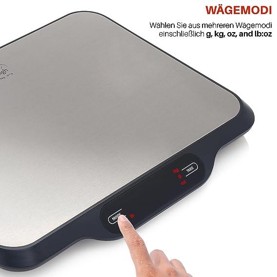 Smart Weigh Báscula Postal Y Báscula Digital De Cocina Multifuncional Con Plataforma Ancha, 15kg De Capacidad: Amazon.es: Oficina y papelería