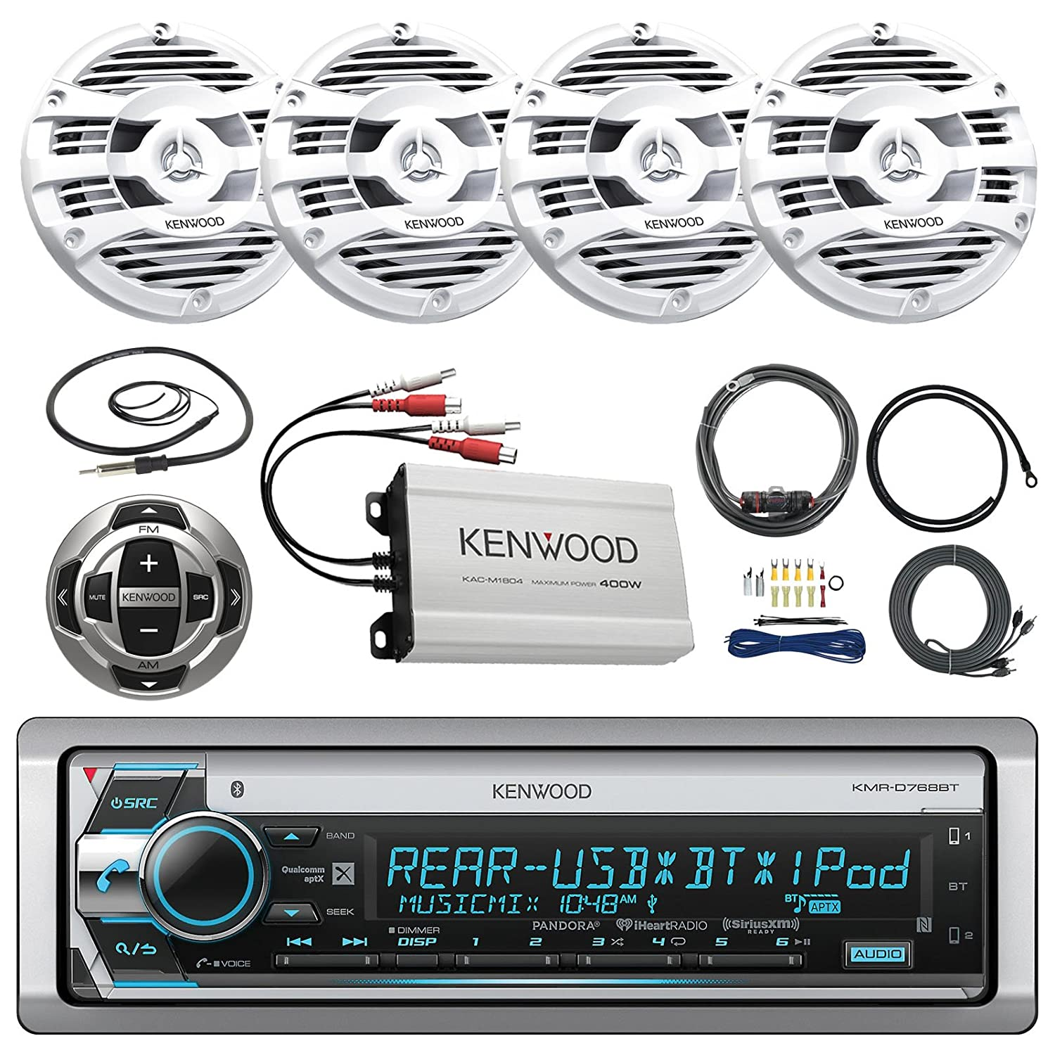 Kenwood Kmr 550u Wiring Diagram Schematic Diagrams Dnx571hd Amazon Com Kmrd765bt Marine Cd Receiver With Bluetooth Car Home Stereo