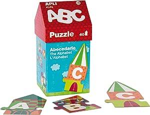 Apli kids-Caja puzzle casita ABC, 40 unidades: Amazon.es: Juguetes ...