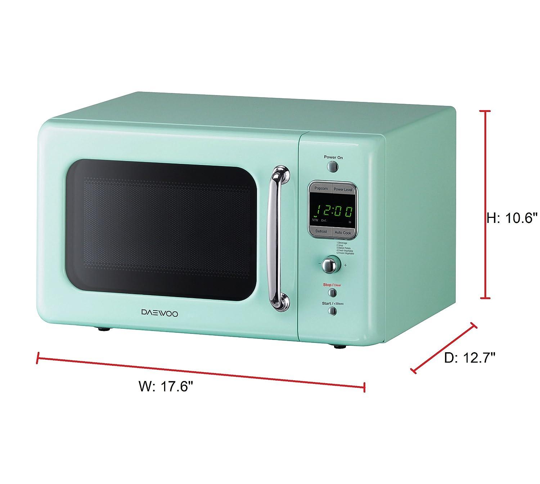 Amazon.com: Daewoo KOR-7LREM Retro Countertop Microwave Oven 0.7 Cu ...