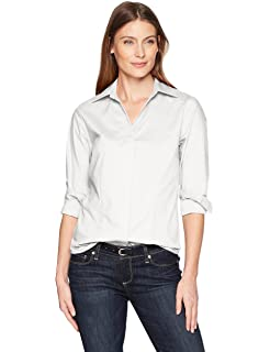 6ba637c7 Riders by Lee Indigo Women's Long Sleeve Button Front Easy Care Woven Shirt