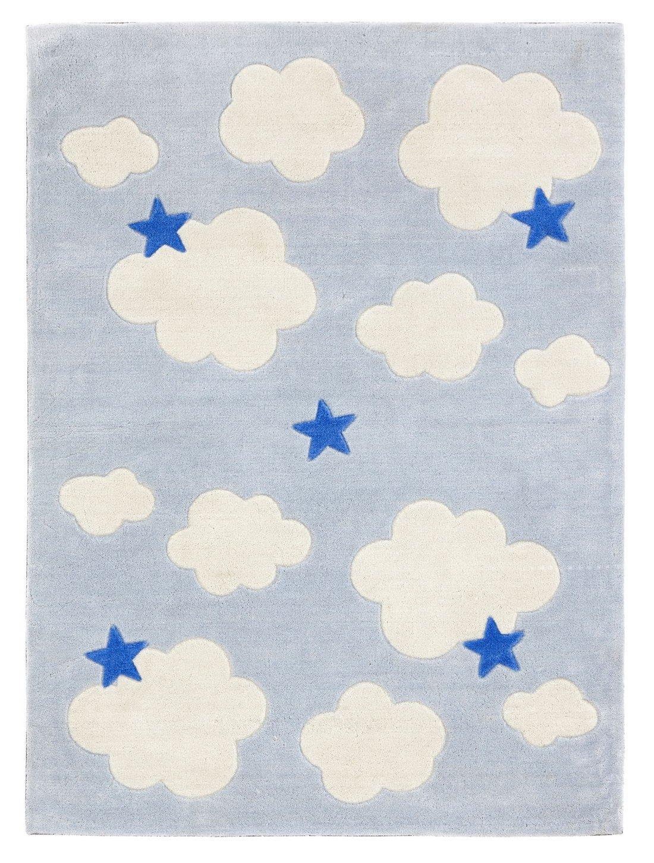Lasse Spela - - - Kids Concept- Teppich Wolke Deko Kinderzimmer, 100x130 cm, Hellblau 8fa254