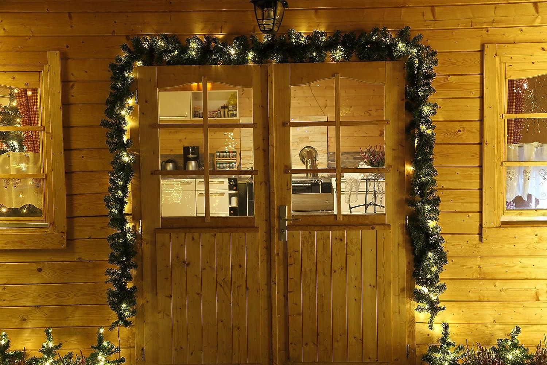 Ghirlanda luci 5m 80 LED decorazione natale finto abete Gartenpirat