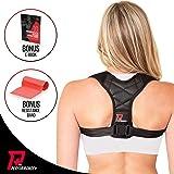 PRO PERFORMANCE+ Posture Corrector | Clavicle Support For Upper Back Neck & Shoulders | Corrects Bad Posture | Fully Adjustable Back Brace For Men & Women | Bonus Exercise Band & E-Book