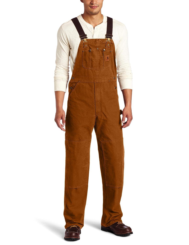 Carhartt Men's Sandstone Unlined Bib Overall R06 Carhartt Sportswear - Mens
