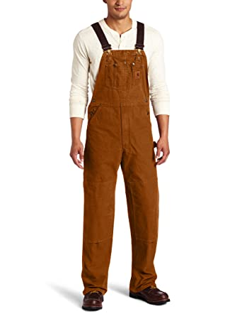 1d497cb9b7 Amazon.com: Carhartt Men's Sandstone Unlined Bib Overall R06: Overalls And  Coveralls Workwear Apparel: Clothing