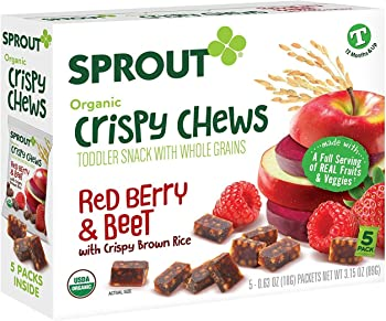 Sprout 10 Boxes Organic Sprout Crispy Chews Toddler Snacks