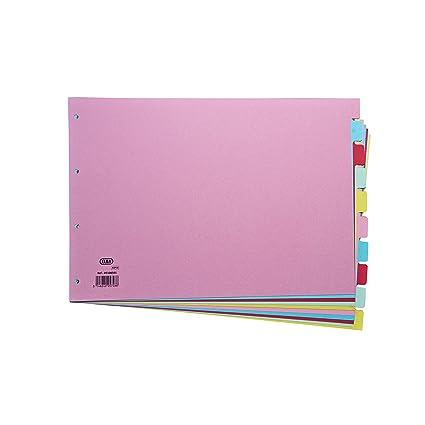 Elba - Separadores para archivador (10 partes, A3), multicolor
