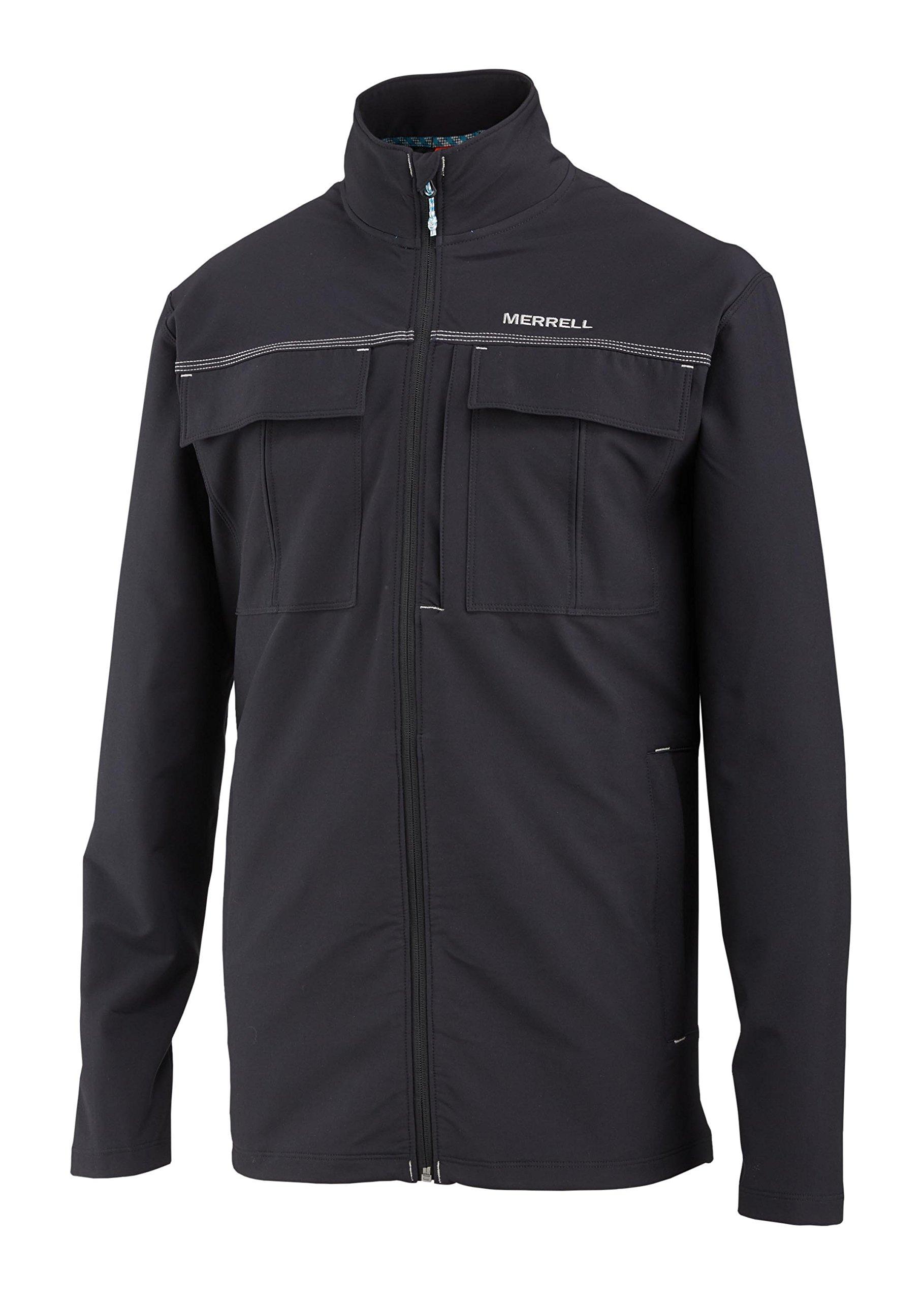 Merrell Stapleton Travel Jacket, Black, Large by Merrell