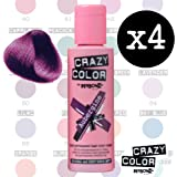 4 X Crazy Color Renbow Semi-Permanent Hair Colour Cream Dye 100ml Box of Four