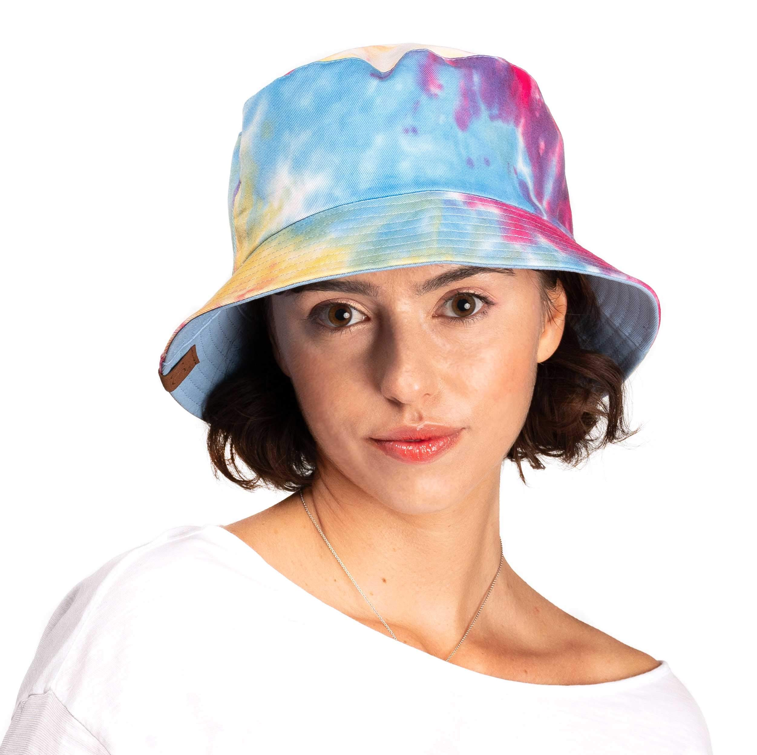 C.C Exclusives Galaxy Bucket Hat Cotton Reversible Tie Dyed Boonie Cap(ST-2176) (Hot Pink)