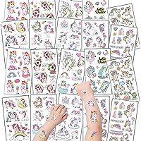 20 vel tattoo kinderen, kind tatoeages eenhoorn tattoo stickers, tijdelijke tatoeages huidvriendelijk voor meisjes…