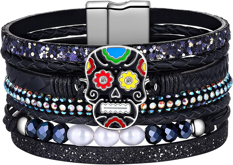 Birthday gift for girlfriend Multicolor bracelet with hematite for best friend Colorful bracelet stack Layered bracelet set boho