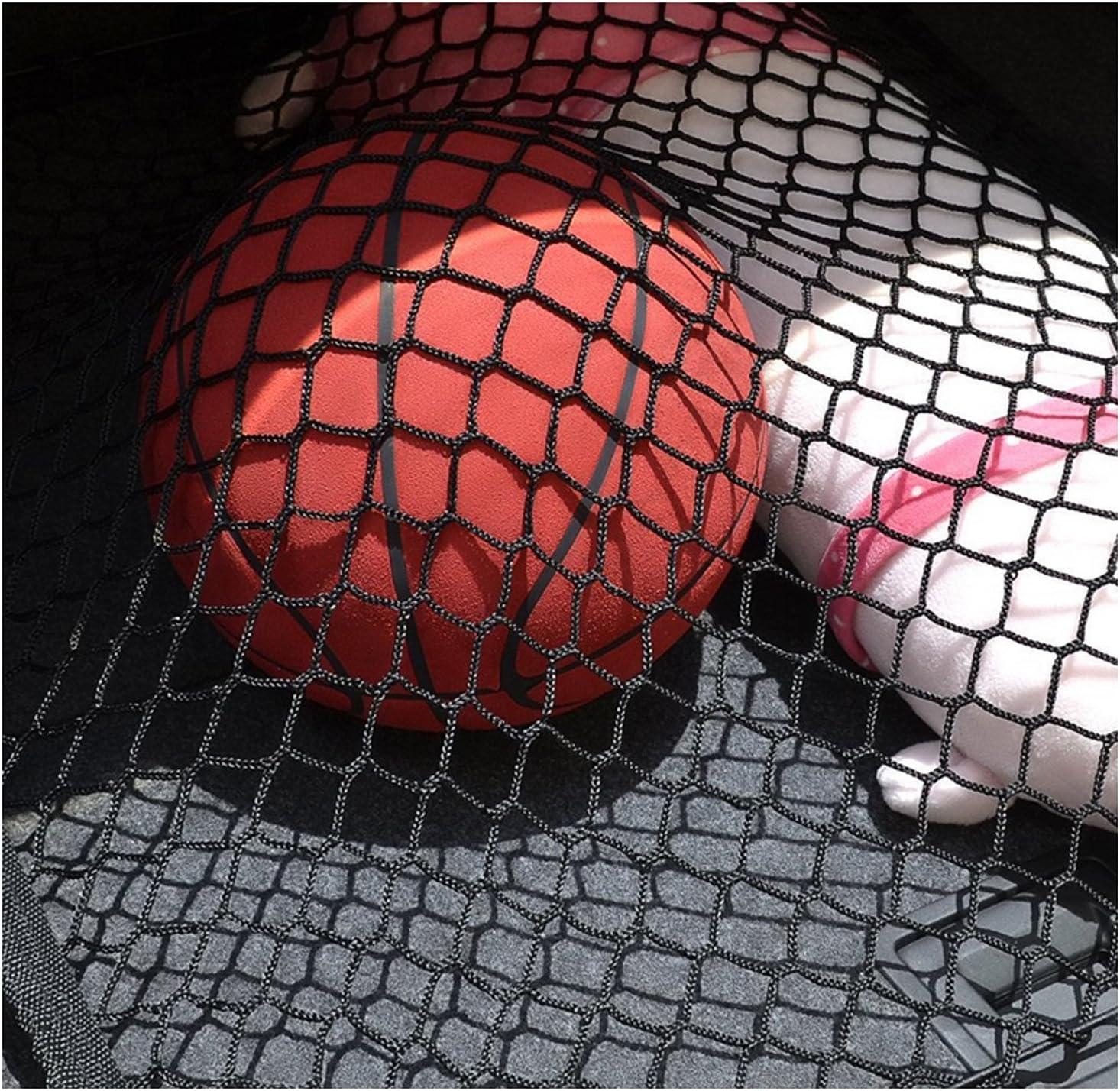 Ruesious Verstellbares Elastisches Hochleistungs Suv Trunk Netz Universell Dehnbares Cargo Netz Mit Haken Organizer Lagerung Mesh Nylon Bungee Für Auto Suv Van Schwarz Auto