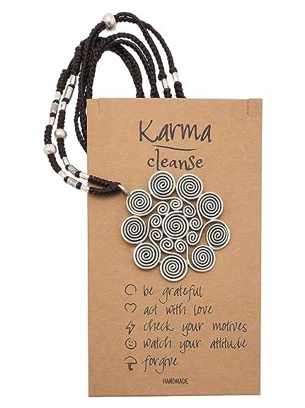 Amazon.com: Quan Joyería Regalos para Mujer Karma Collar ...