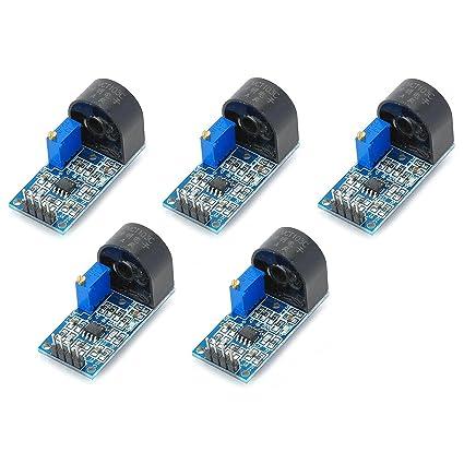AC medidor de corriente sensor module con hasta 5 A rango de detección y salida analógica