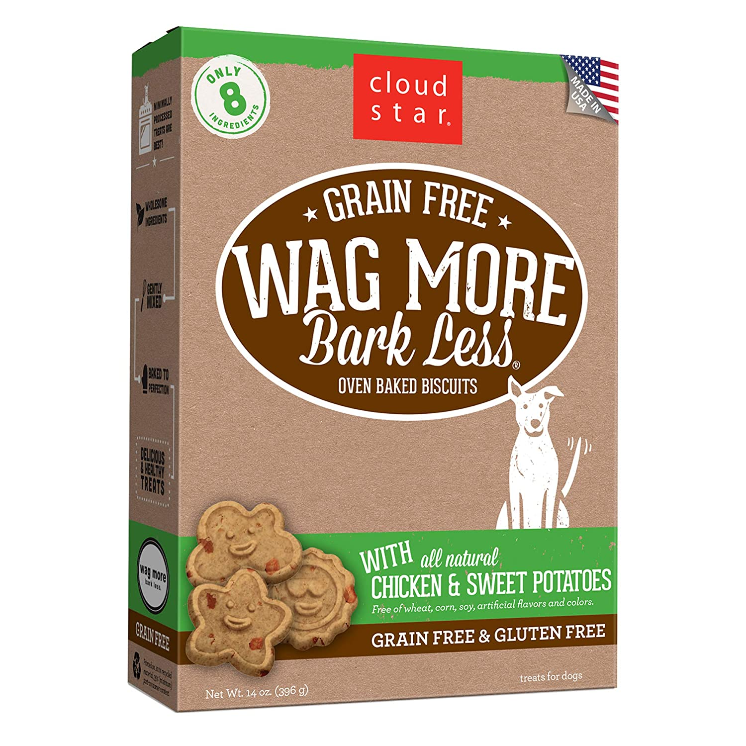 Cloud Star Wag More Bark Less Grain Free Oven Baked Treats